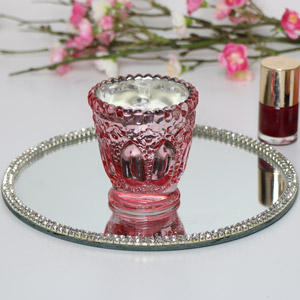 Small Pink Peony Candle