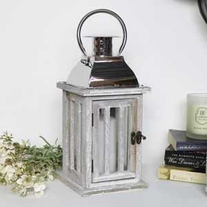 Small Rustic Wooden Candle Lantern