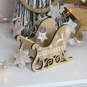 Small Rustic Wooden Sleigh
