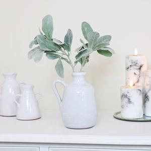 Small White Ceramic Jug