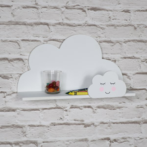 Small White Cloud Shelf