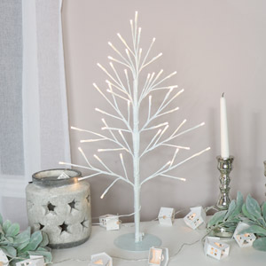 Small White LED Christmas Tree