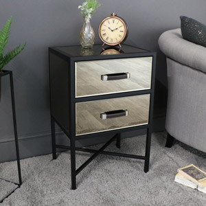 Vice Range - Smoked Copper Mirrored Bedside Table
