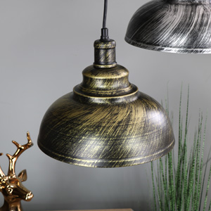 Stylish Industrial Gold Dome Ceiling Pendant Light