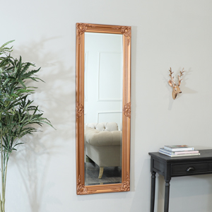 Tall Copper Wall Mirror 47cm x 142cm