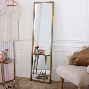 Tall Gold Full Length Mirror 40cm x 140cm