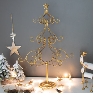 Tall Gold Metal Christmas Tree