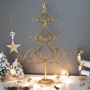 Tall Gold Metal Christmas Tree