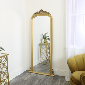 Tall Gold Ornate Vintage Wall / Leaner Mirror 80cm x 180cm