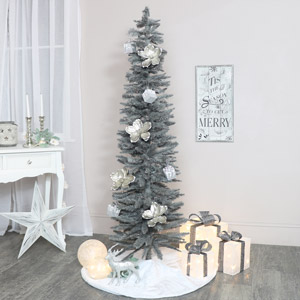 Tall Grey Christmas Tree