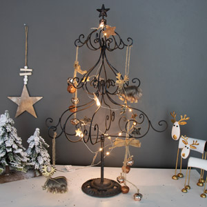 Metal Christmas.Shabby Chic Christmas Decorations Melody Maison