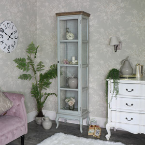 Tall Slim Glazed Display Cabinet