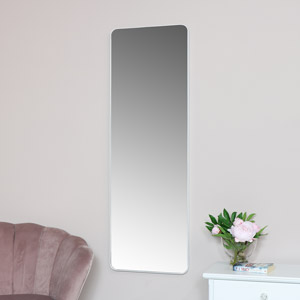 Tall White Wall / Floor / Leaner Mirror 47cm x 142cm