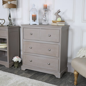 Taupe 4 Drawer Chest of Drawers - Cambridge Range