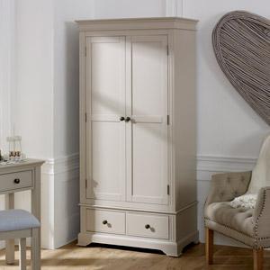 Taupe-Grey Double Wardrobe - Davenport Taupe-Grey Range