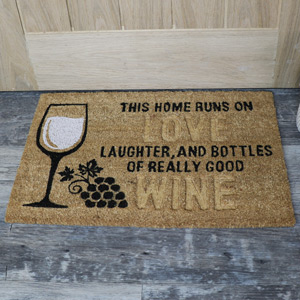 Love & Wine coir Door Mat