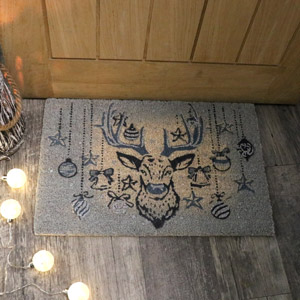 Traditional Christmas Coir Doormat