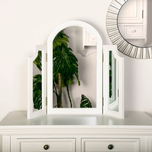 Daventry White Triple Dressing Table Mirror