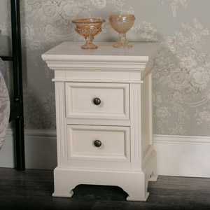Two Drawer Bedside Chest - Daventry Cream Range