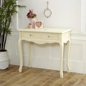 Two Drawer Dressing Table - Elise Cream Range