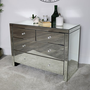 Venetian Mirrored 4 Drawer Chest