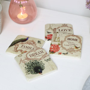 Vintage Ceramic Coaster Set