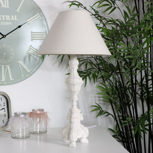 Vintage Cream Table Lamp
