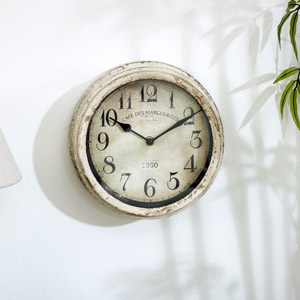 Vintage Cream Wall Clock