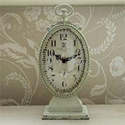 Green Oval Mantel Clock