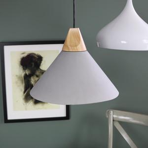 Vintage Grey Cement Pendant Light