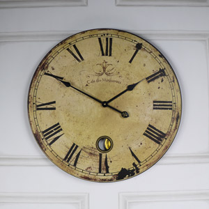 Vintage Large French Cafe Wall Clock