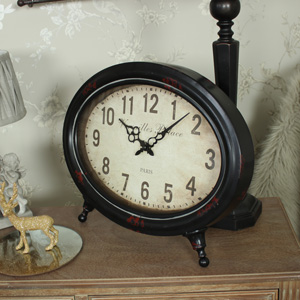 Vintage Oval Mantel Clock