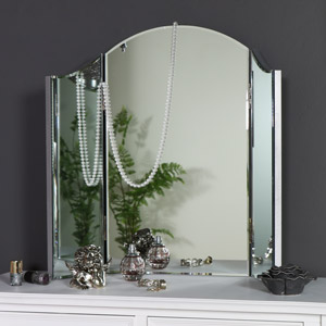 Vintage Tabletop Triple Mirror