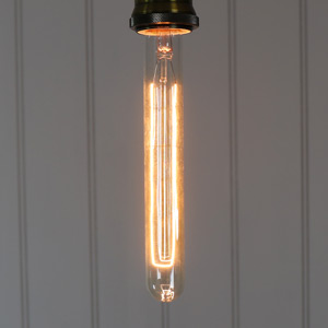Vintage Tinted Long Tubular Glass 40W Filament Bulb