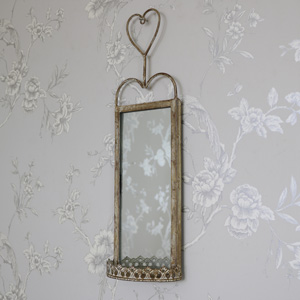 Vintage Wall Hanging Mirrored Sconce 15cm x 50cm