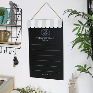 Wall Mounted Chalk Board - Tea Rooms