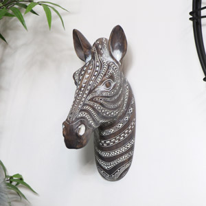 Wall Mounted Zebra Head