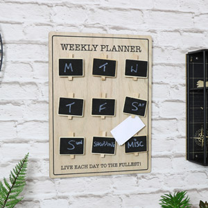 'Weekly Planner' Wall Mounted Chalkboard