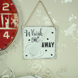 'Whisk Me Away' Hanging Wall Plaque