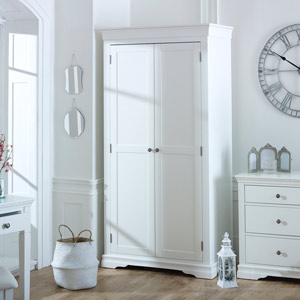 Newbury White Double Wardrobe