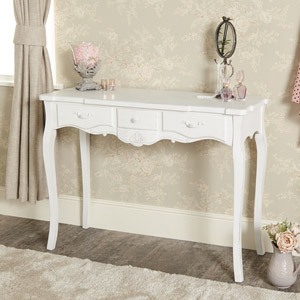 White 3 Drawer Console Table - Jolie Range