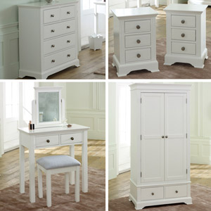 Davenport White Bedroom Furniture Set