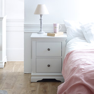 White Bedside Table - Newbury White Range