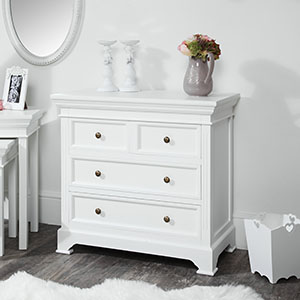 Daventry White 4 Drawer Chest