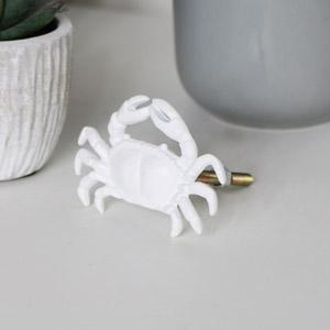 White Crab Door Handle