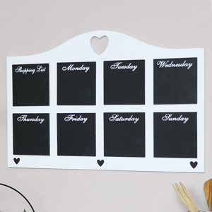 White Daily Chalk Board