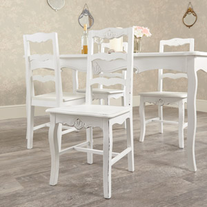 White Dining Chair - Jolie Range