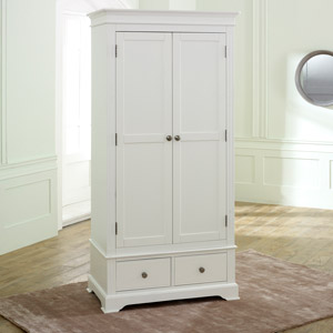 White Double Wardrobe - Davenport White Range