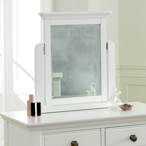 Davenport White Dressing Table Mirror