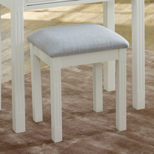 Davenport White Range Dressing Table Stool